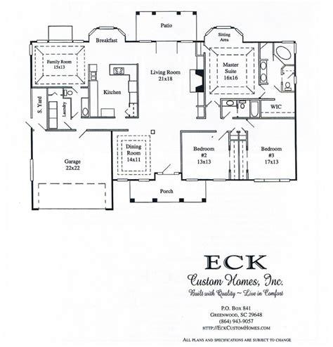 eck custom homes inc greenwood s c