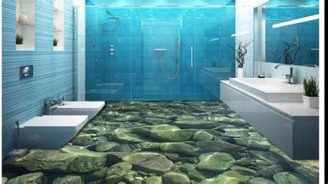 3d Bathroom Floor Created With Epoxy