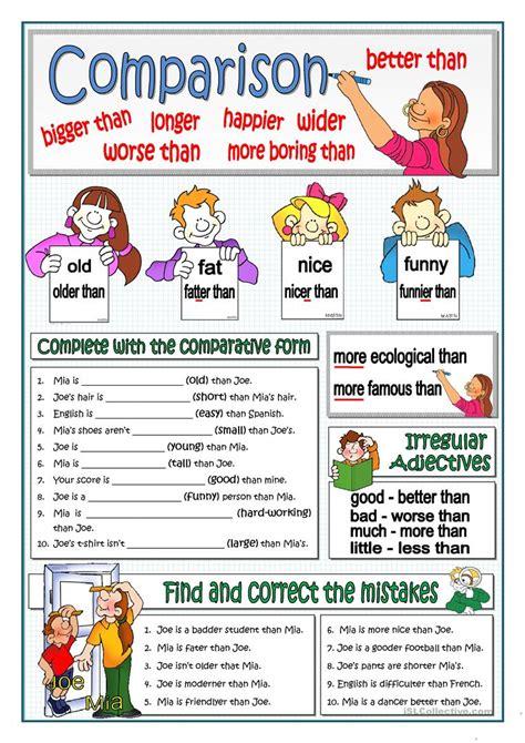 Worksheet Comparative Adjectives Worksheet Grass Fedjp Worksheet Study Site