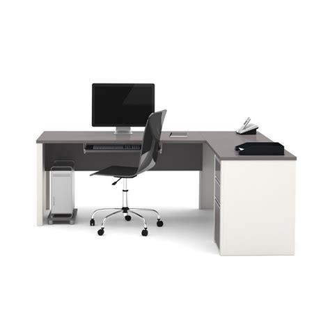 bestar connexion l shaped desk in sandstone 93880 59