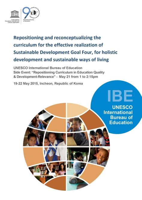 ibe discussion paper repositioning and reconceptualizing the curriculum international bureau