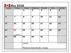 Calendar May 2018, Canada Michel Zbinden en