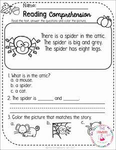 Kindergarten Reading Comprehension Passages - Fall ...