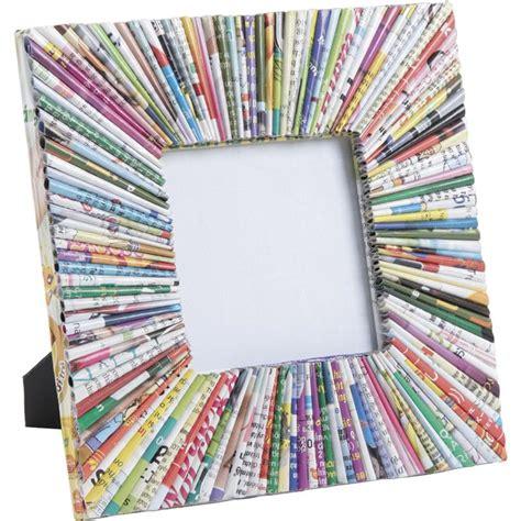 cadre photo carr 233 en papier recycl 233