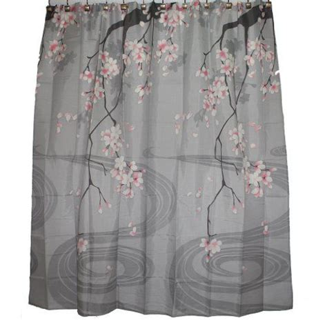 traditional japanese cherry blossom shower curtain