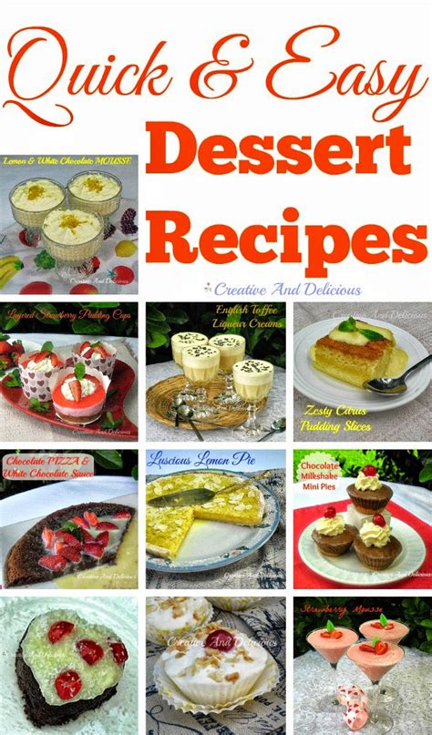 creative and delicious and easy dessert recipes