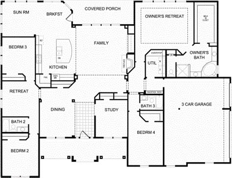 quot fredericksburg quot plan by david weekley homes 3238 sf one story home house