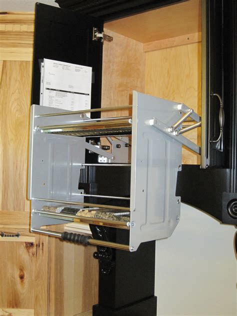 Pull Down Shelves Kitchen Wall Cabinets