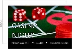 Poker Night In Vegas Casino Party Invitation | Poker Party ...