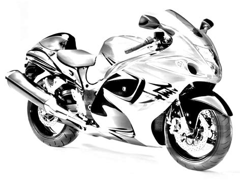 Hayabusa Sport Bike Drawings Sketch Coloring Page