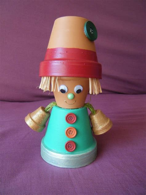 personnage en pot de terre cuite jardin artisanat pots d argile et argile