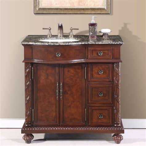 36 perfecta pa 138 bathroom vanity single sink cabinet chestnut finish granite