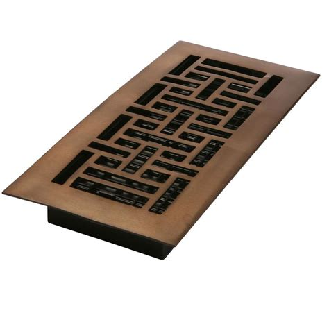 decor grates 2 in x 12 in steel rubbed bronze