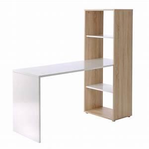 Ikea Schreibtisch Mit Regal : schreibtisch mit regal in eiche sonoma und weiss ebay ~ Markanthonyermac.com Haus und Dekorationen