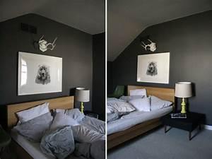 Computer Im Schlafzimmer : wandfarbe grau im schlafzimmer 77 gestaltungsideen ~ Markanthonyermac.com Haus und Dekorationen