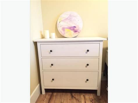 ikea 3 drawer dresser hemnes white mill bay cowichan