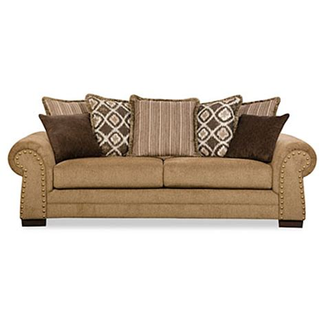 Simmons Sofas At Big Lots by Simmons Lorenzo Teak Scatter Back Sofa Big Lots