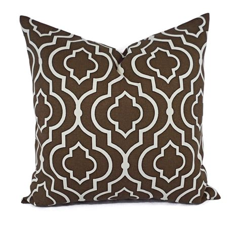 two decorative pillow covers brown by castawaycovedecor