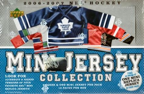 2006 07 deck mini jersey collection hockey hobby box