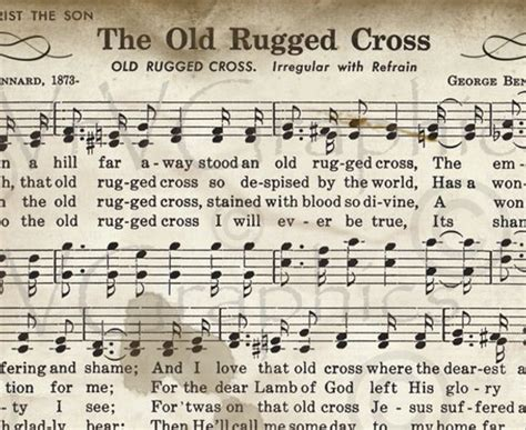 Items Similar To The Old Rugged Cross Sheet Music