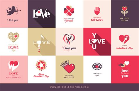 Free 15 Cool Valentines Day Cards  Dribbble Graphics