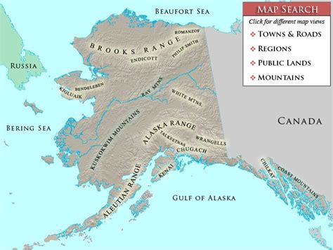 mountain ranges of alaska