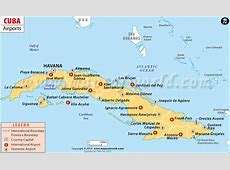 Airports in Cuba, Cuba Airports Map