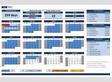 Employee Vacation Calendar Excel calendar template excel