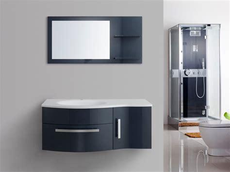 ensemble de salle de bain naiade meubles vasques miroir bleu