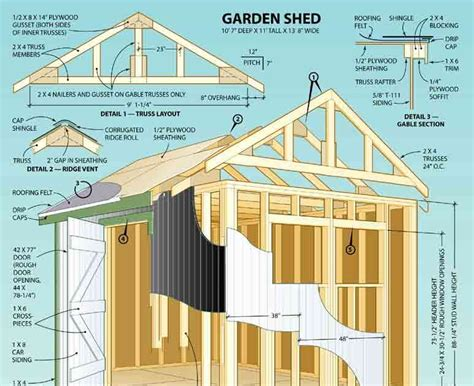 shedaria 8x10 outdoor shed plans