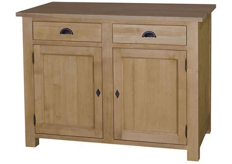 acheter votre buffet de cuisine en pin massif avec portes et tiroirs chez simeuble