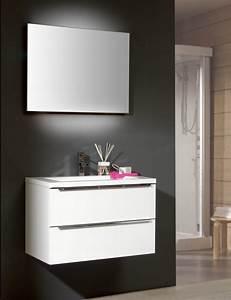 Waschtisch Mit Spiegelschrank 80 Cm : architekt 500 m belkombination 80 cm mit keramik waschtisch und spiegel megabad ~ Markanthonyermac.com Haus und Dekorationen