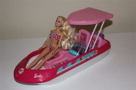 Buy Barbie Boat by Barbie Glam Speed Boat And Doll Playset Collectable Rare