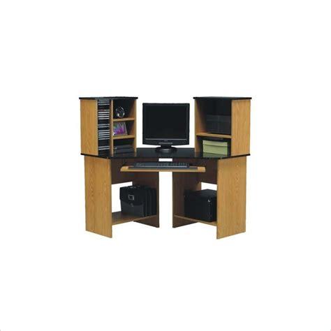 ameriwood wood corner w hutch computer desk ebay