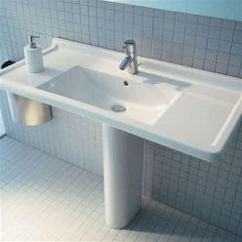 duravit starck 3 33 5 quot pedestal bathroom sink d19026