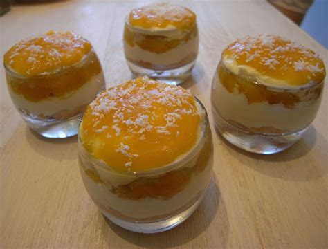 verrine mangue litchis coco bon et beau