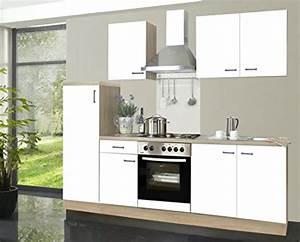 Küchenzeile 2 M : k chenzeile biggi 270 cm komplett k che wei mit k hlschrank herd ~ Markanthonyermac.com Haus und Dekorationen