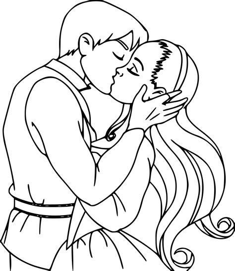 coloriage amour baiser 224 imprimer