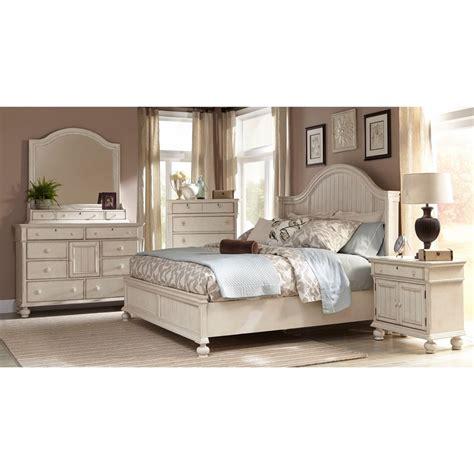 Greyson Living Laguna Antique White Panel Bed 6piece