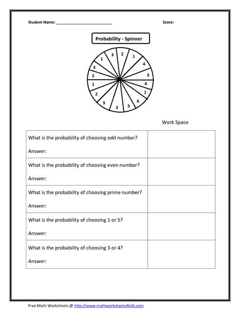 Probability Worksheets Grade 9  Probability Problems Grade 7 10 Math Worksheets And 57th