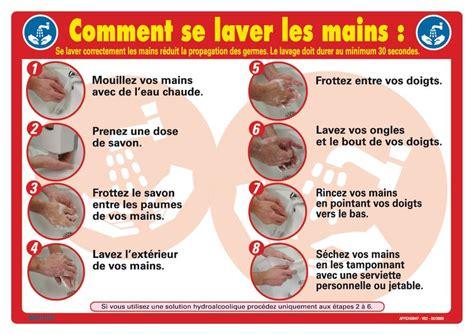 affiche comment se laver les mains seton belgique