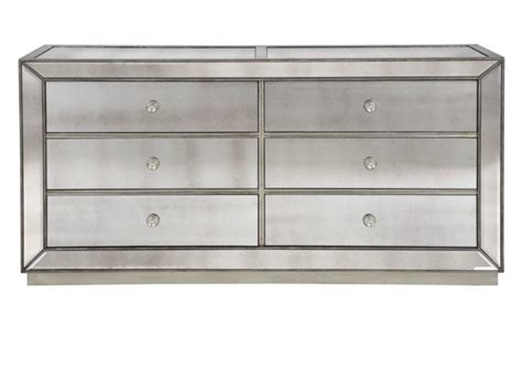 omni mirrored 6 drawer chest chests from z gallerie home