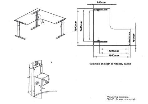 altex 100 corner electric height adjustable desk frame
