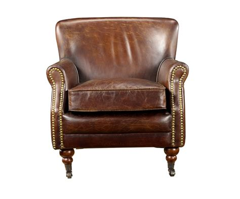 Vintage Cigar Leather English Club Chair