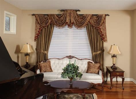 swag curtains for living room living room swags traditional curtain rods