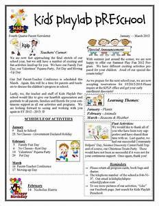 13+ Printable Preschool Newsletter Templates – Free Word ...