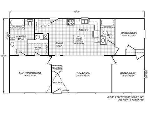 Fleetwood Mobile Homes Floor Plans Eagle 28483s Fleetwood Homes