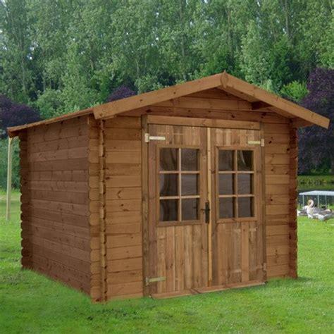 abri de jardin loann 10 56 m 178 hors tout en bois trait 233 autoclave et color 233 marron 28 mm