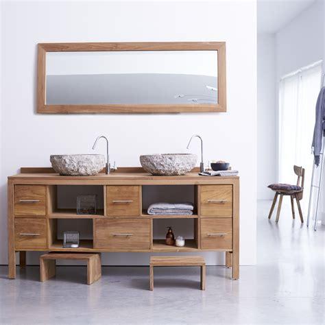 meuble pour salle de bain en teck meubles layang duo sur tikamoon