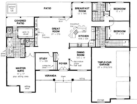 style house plan 3 beds 2 baths 2630 sq ft plan country style house plan 4 beds 2 5 baths 2630 sq ft